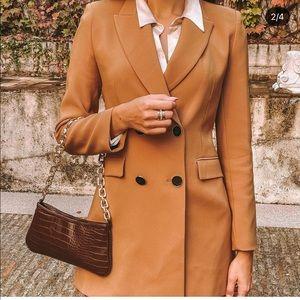 Zara double breast button blazer blogger favorite